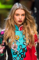 STELLA MAXWELL on the Runway at Dolce & Gabbana Spring/Summer 2017 Fashion Show in Milan 09/25/2016