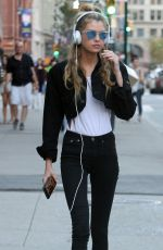 STELLA MAXWELL Out in New York 09/03/2016