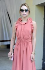 SUKI WATERHOUSE Leaves Excelsior Hotel in Venice 09/06/2016