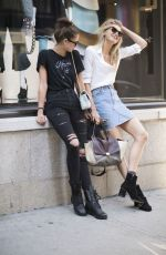TAYLOR HILL and ROMEE STRIJD Out in New York 09/04/2016