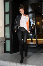 TAYLOR HILL Leaves Her Hotel in Milan 09/24/2016