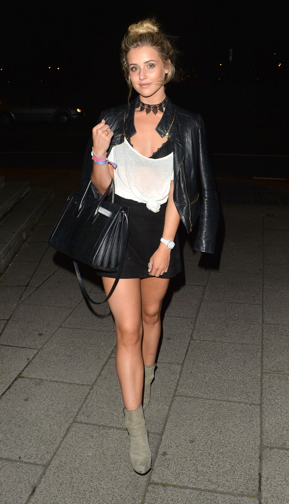 TINA STINNES Night Out in London 09/04/2016