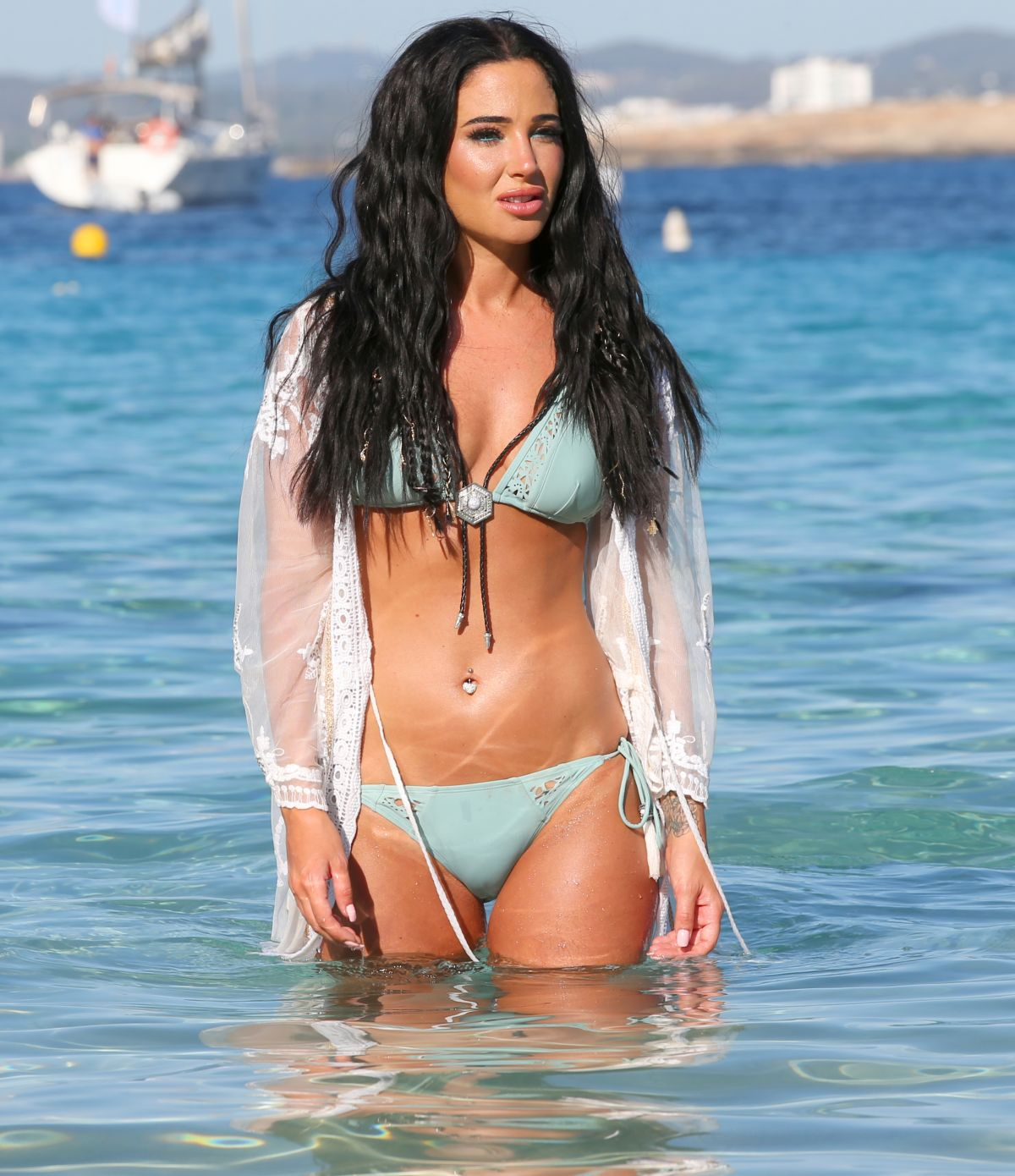 TULISA CONTOSTAVLOS in Bikini on the Set of a Music Video in Ibiza 09/01/2016