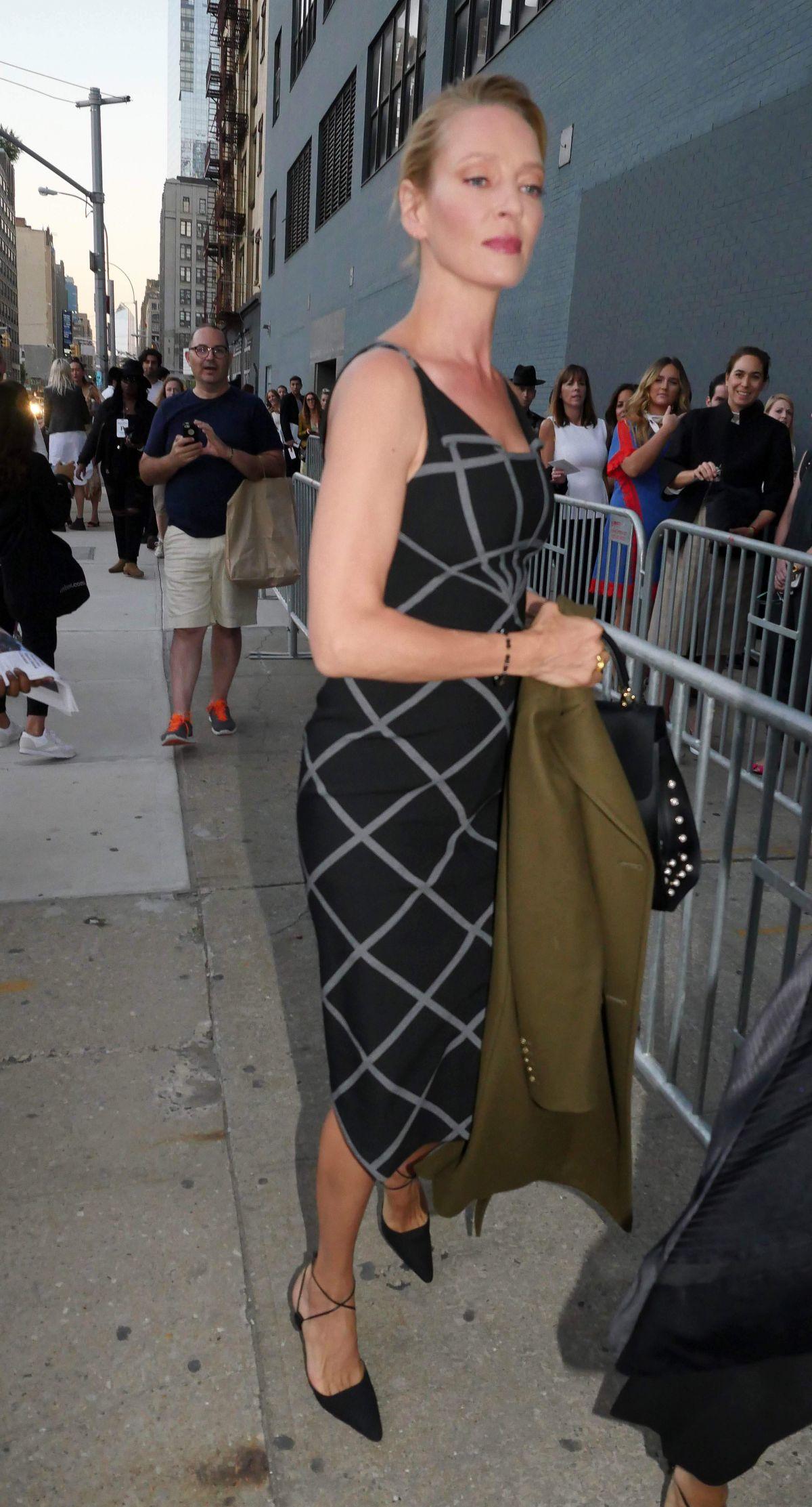 UMA THURMAN at New York Fashion Week 2016 in New York 09/12/2016