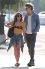 VANESSA HUDGENS in Jeans Shorts Out in Venice Beach 09/22/2016
