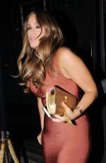 VICKY PATTISON Night Out in London 09/02/2016