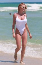 VICKY XIPOLITAKIS in Swimsuit at a Beach in Miami 09/19/2016