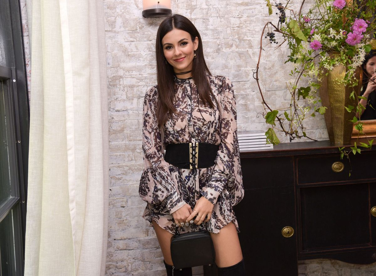 VICTORIA JUSTICE at W Magazine IT Girl Luncheon in New York 09/07/2016