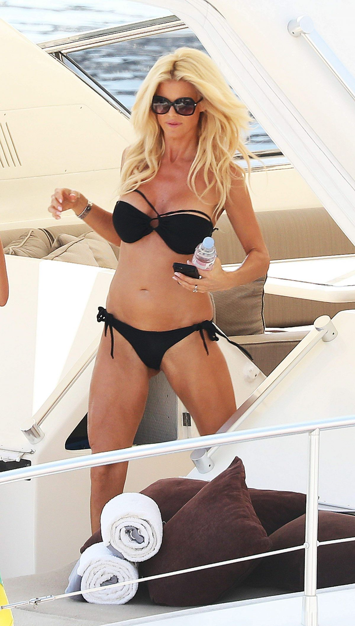 VICTORIA SILVSTEDT in Bikini at a Yacht in Monaco 09/24/2016