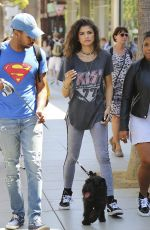 ZENDAYA COLEMAN Out and About in Los Angeles 09/03/2016