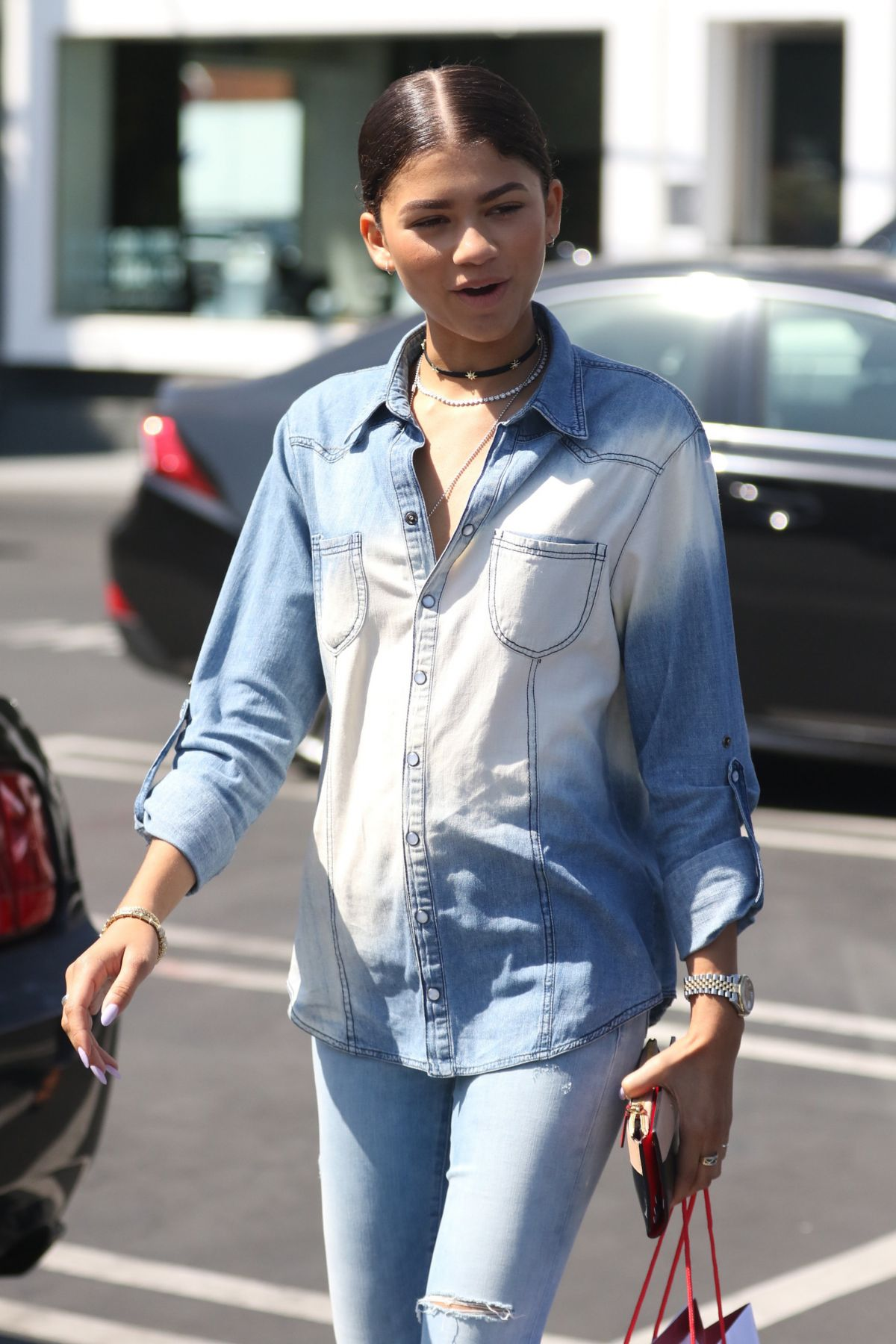 ZENDAYA COLEMAN Out Shopping in West Hollywood 09/02/2016