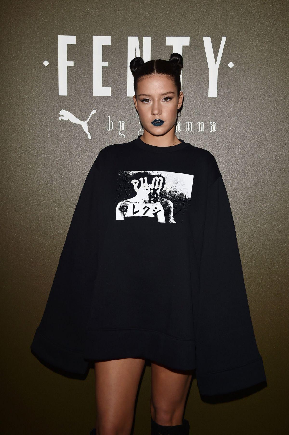 ADELE EXARCHOPOULOS at Fenty x Puma by Rihanna Fashion Show at Paris Fashion Week 09/28/2016
