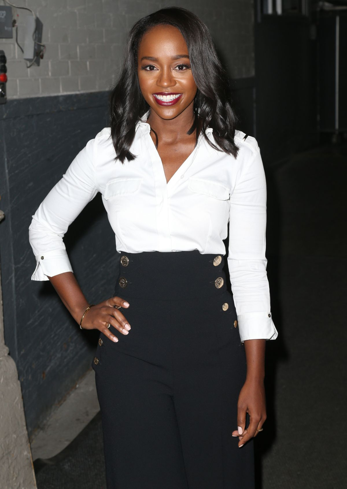 AJA NAOMI KING at AOL Studios in New York 10/05/2016