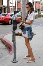 ALESSANDRA AMBROSIO Out Shopping in Beverly Hills 10/11/2016