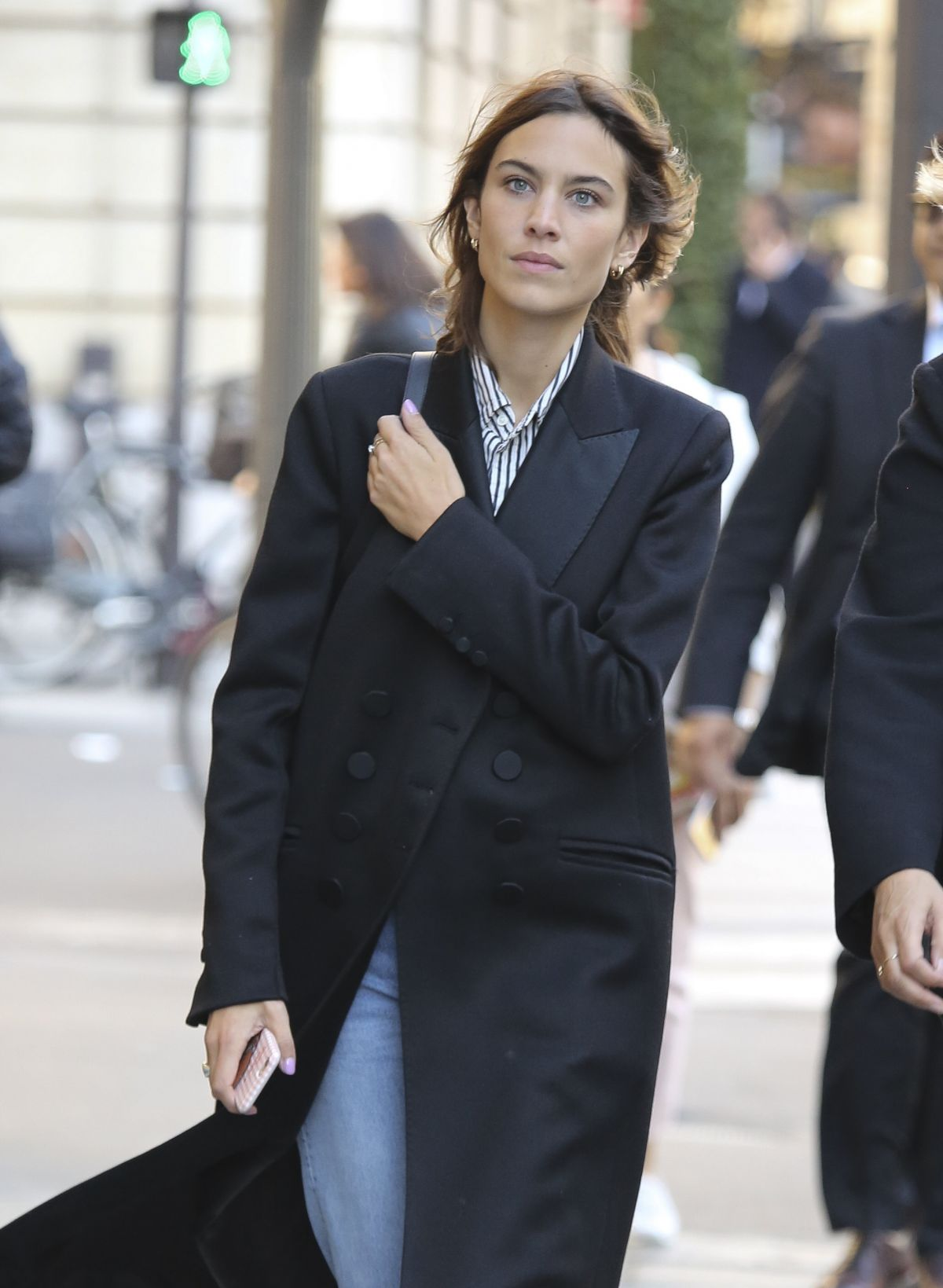ALEXA CHUNG Out for Shopping in Paris 10/05/2016