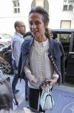 ALICIA VIKANDER Arrives at Her Hotel in Paris 10/05/2016