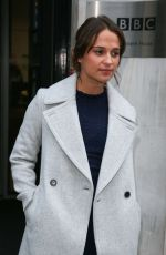 ALICIA VIKANDER at BBC Radio 2 Studios in London 10/21/2016