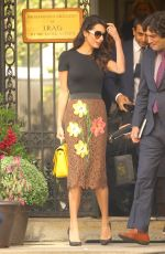 AMAL CLOONEY Out and About in New York 09/28/2016
