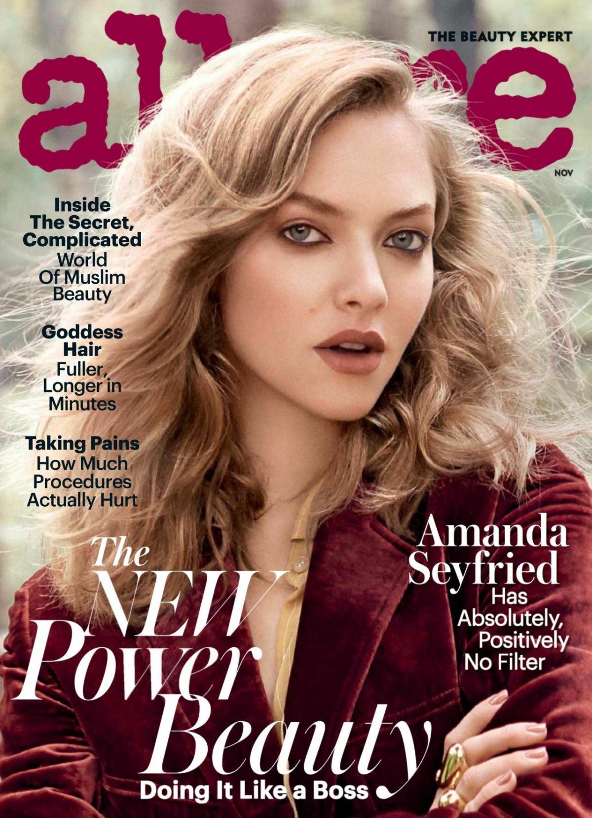AMANDA SEYFRIED in Allure Magazine, November 2016 Issue