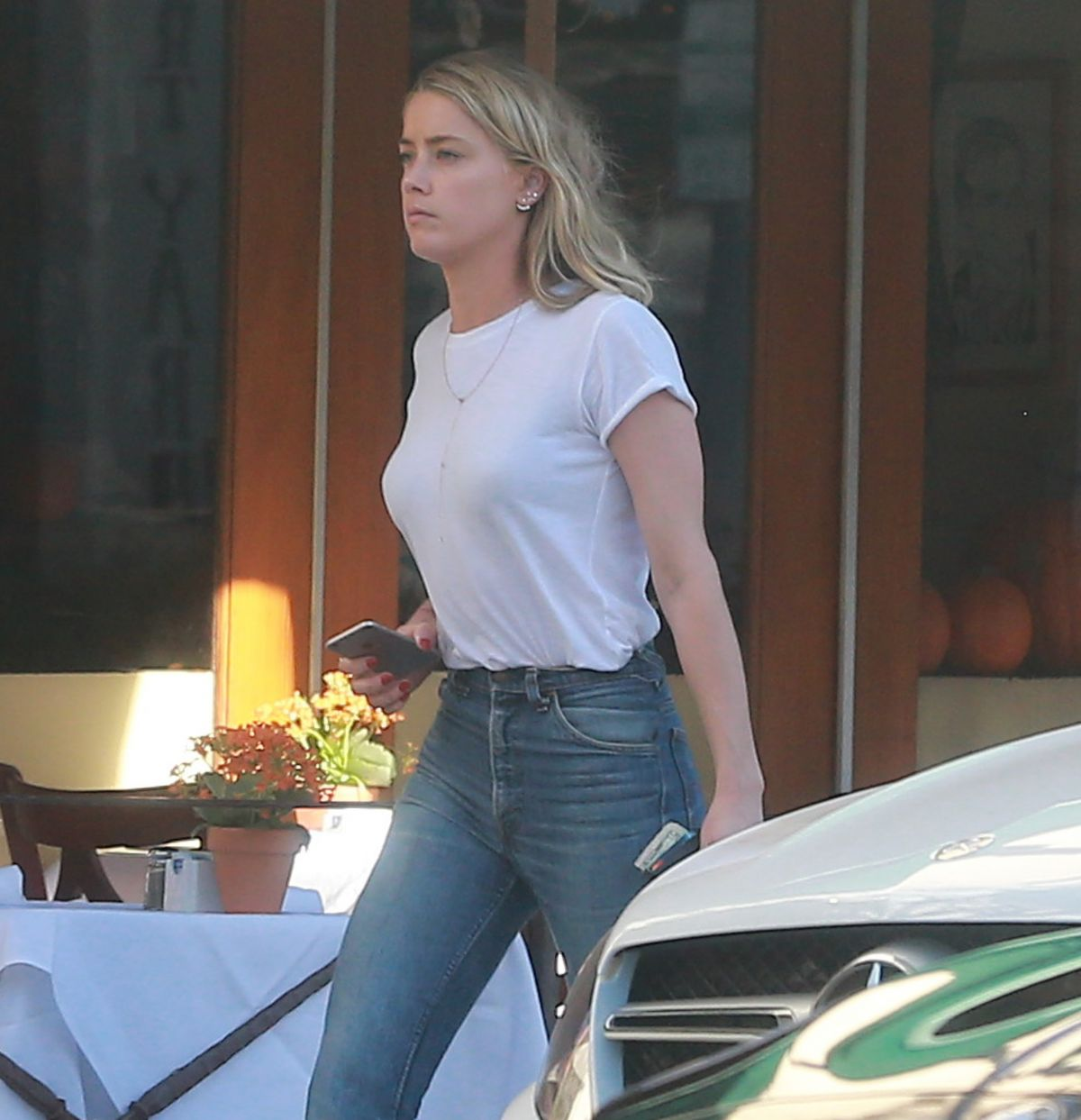 AMBER HEARD Out and About in Beverly Hills 10/21/2016