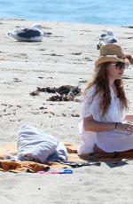 AMY ADAMS on the Beach in Malibu 09/30/2016
