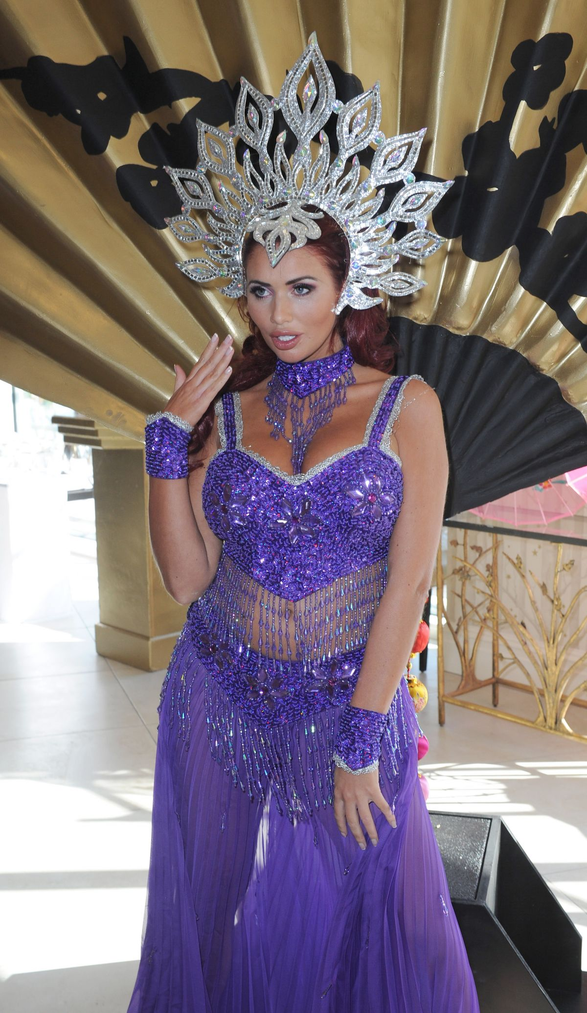 AMY CHILDS at Christmas Panto Launch in Liverpool 10/06/2016