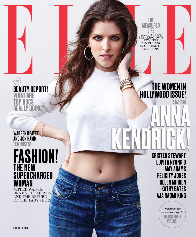 ANNA KENDRICK In Elle Magazine November 2016 Issue