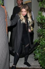 ASHLEY BENSON at Delilah Restaurant Club in West Hollywood
