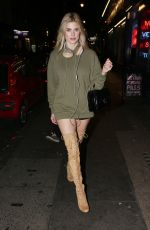 ASHLEY JAMES Arrives at Lights of Soho on Brewer Street in London 10/27/2016