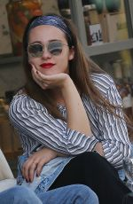 AURORA RAMAZZOTTI Out with a Friends in Milan 10/05/2016