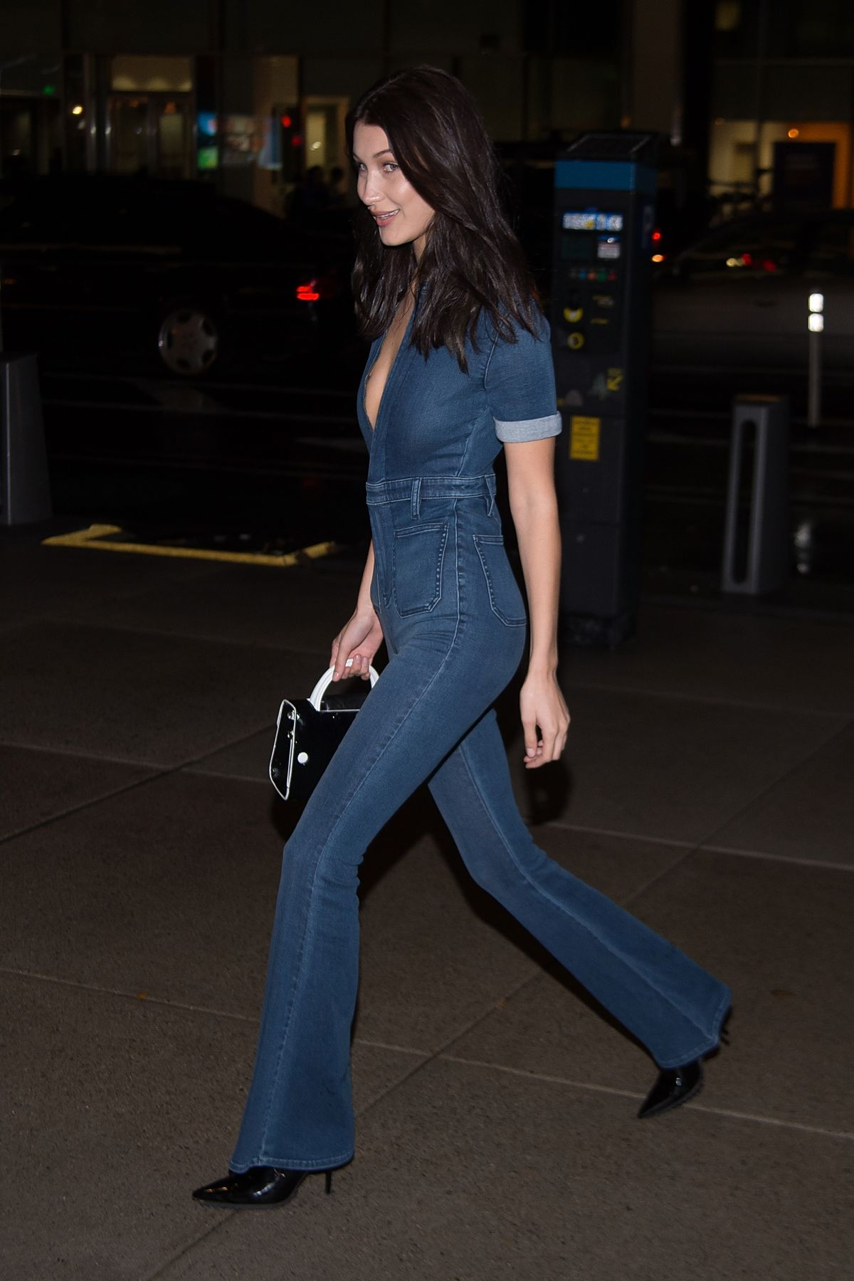 547eb5c86b4 BELLA HADID in Jeans at Victoria s Secret Headquarters in New York 10 30  2016. Posted by Aleksandar. October 31