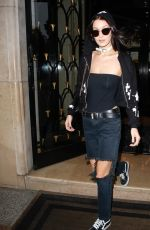 BELLA HADID Leaves Her Hotel in Paris 10/29/2016