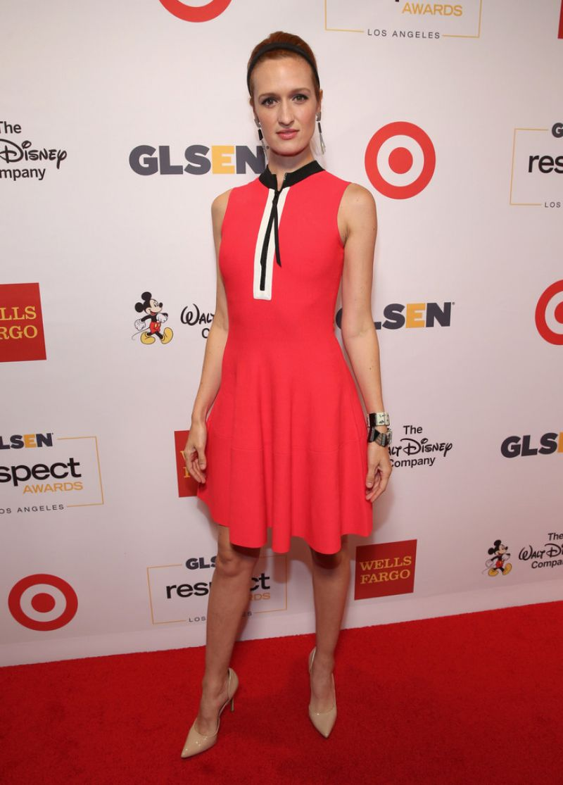 BREEDA WOOL at glsen Respect Awards in Los Angeles 10/21/2016
