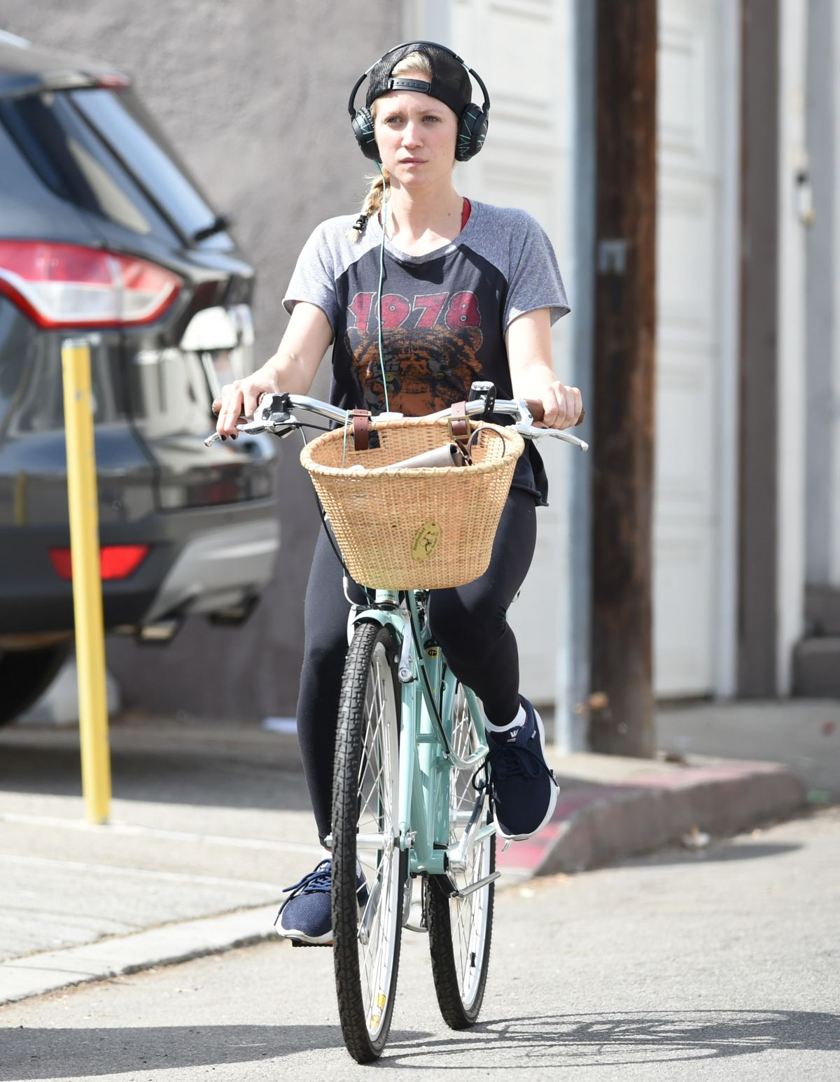 BRITTANY SNOW Out for a Bike Ride in Los Angeles 10/07/2016