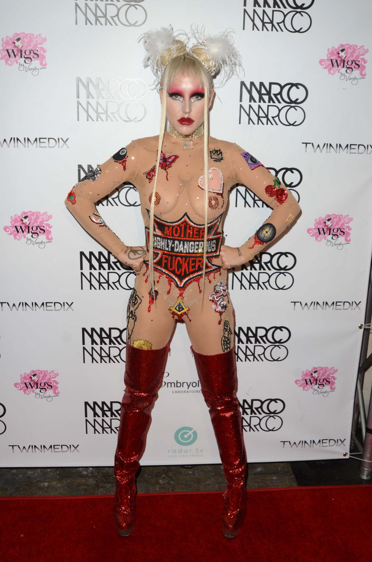 BROOKE CANDY at Marco Marco Fashion Show in Los Angeles 10/21/2016