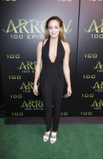 CAITY LOTZ at 'Arrow' 100th Episode Celebration in Vancouver 10/22/2016