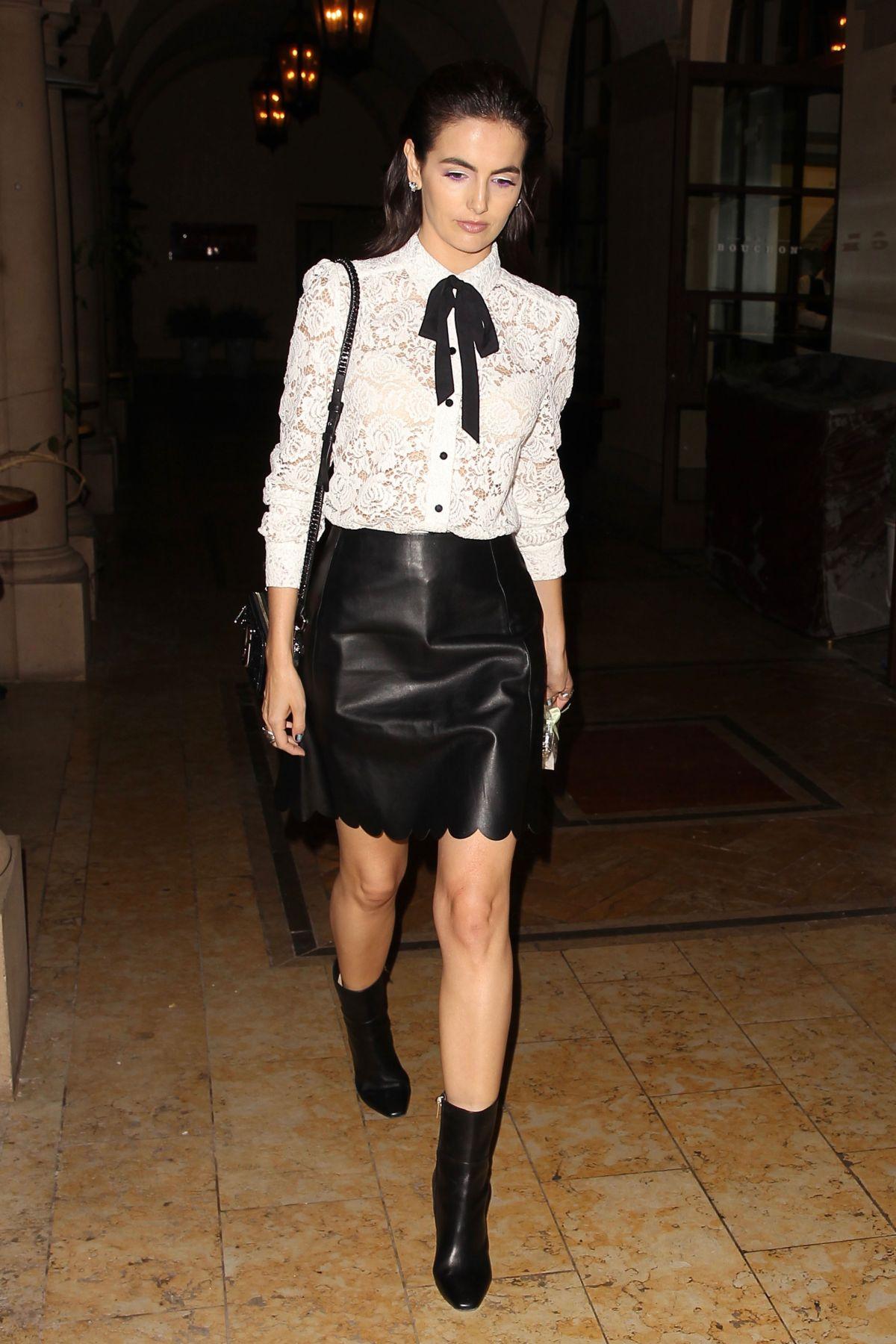 Camilla belle at cfda vogue fashion fund fashion show in los angeles