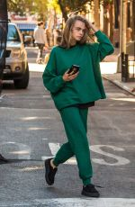 CARA DELEVINGNE Out and About in New York 10/10/2016