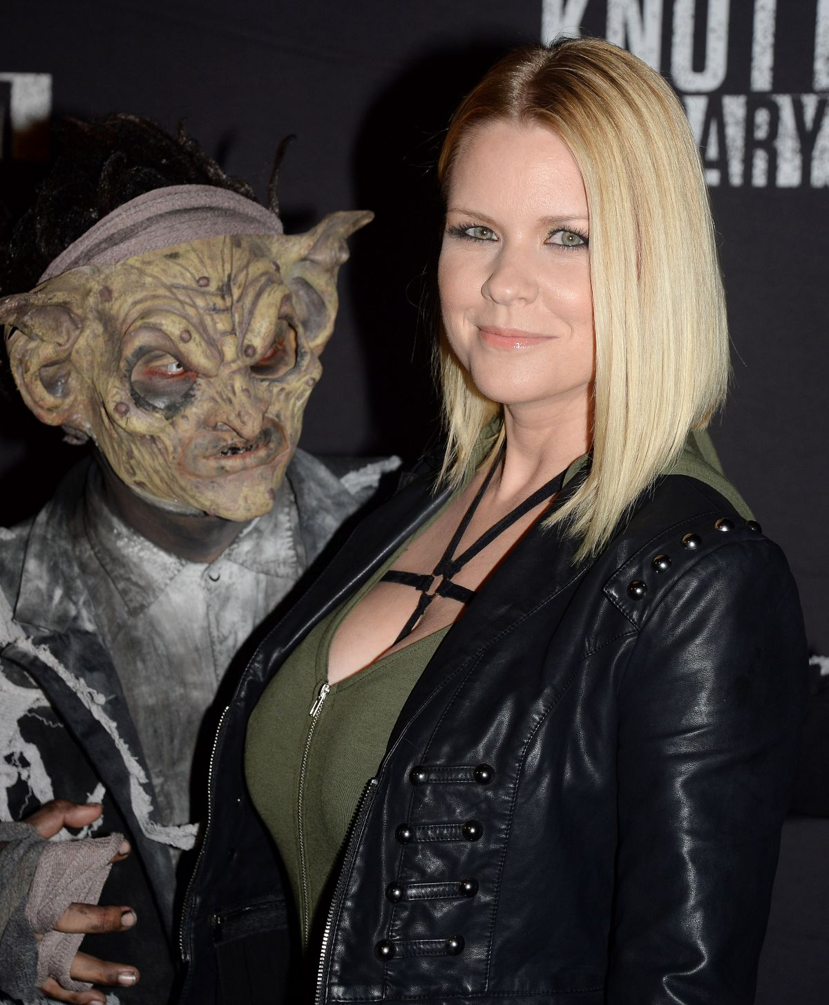 CARRIE KEAGAN at Knott's Scary Farm Opening Night in Buena Patk 09/30/2016