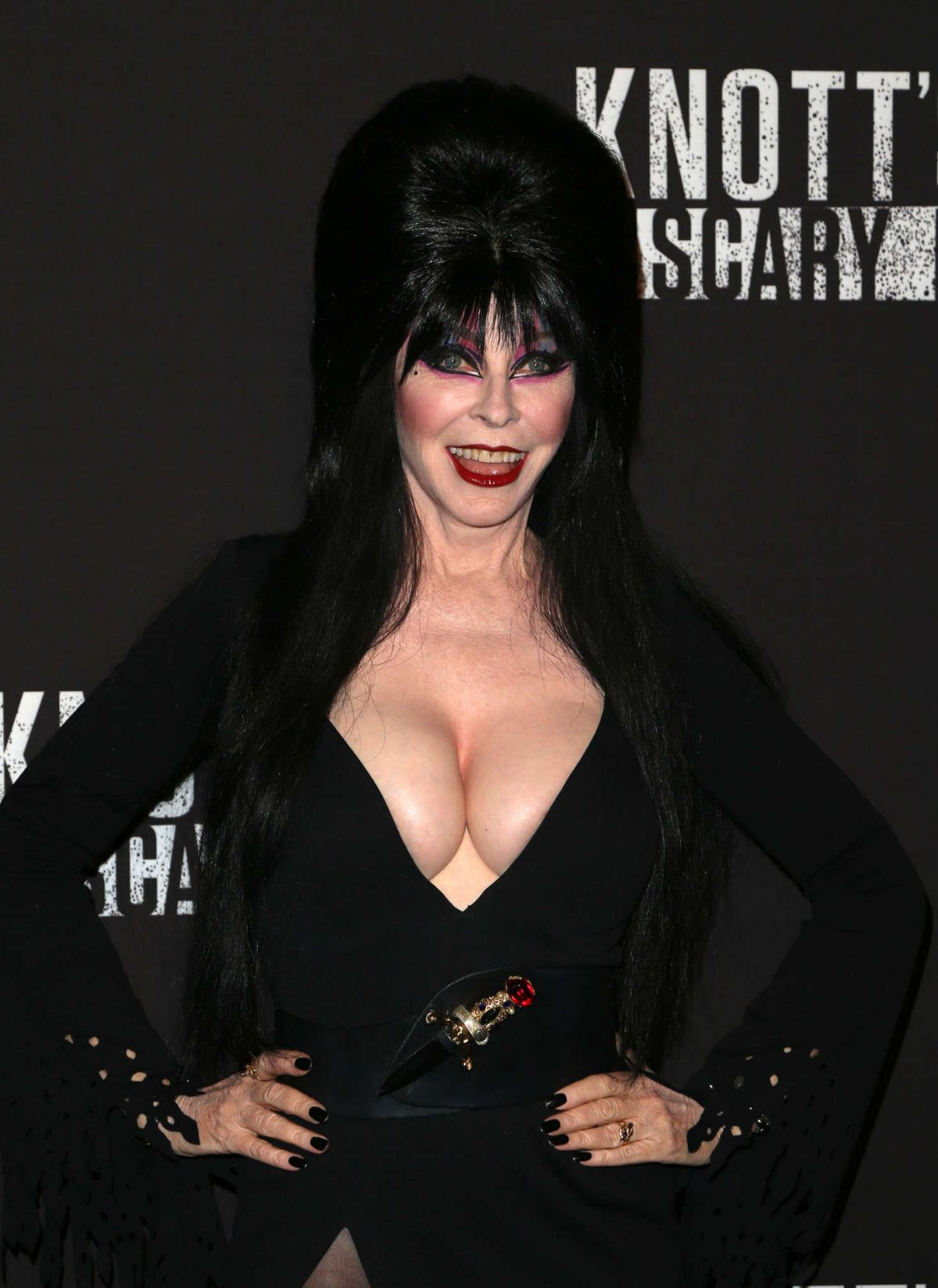 CASSANDRA PETERSON at Knott's Scary Farm Opening Night in Buena Patk 09/30/2016
