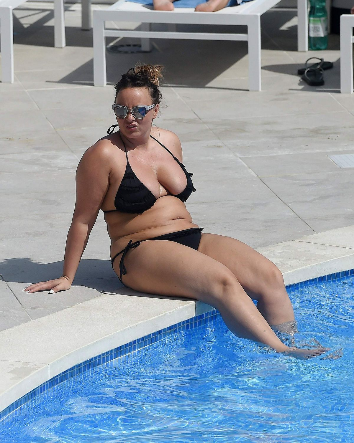 CHANELLE HAYES in Bikini at a Pool in Spain 10/04/2016