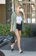 CHARLOTTE MCKINNEY in SHorts Out in West Hollywood 10/20/2016