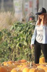 CHRISTINA AGUILERA at a Pumpkin Patch in Malibu 10/23/2016