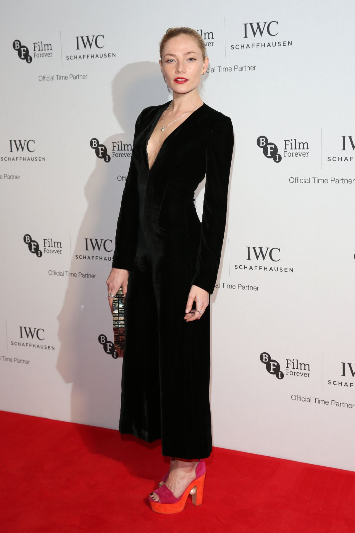 CLARA PAGET at IWC Schaffhausen Dinner in Honour of BFI Rosewood in London 10/04/2016