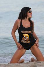 CLAUDIA ROMANI in Bikini Bottom at Miami Beach 10/09/2016