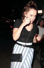 DAISY RIDLEY Leaves Madeo Restaurant in Los Angeles 09/29/2016