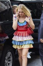 DAKOTA FANNING Out and About in New York 10/20/2016