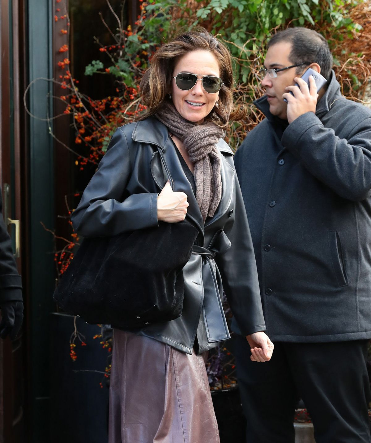 DIANE LANE Out and About in New York 10/25/2016