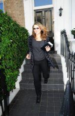 ELIZABETH HURLEY Leaves Her Home in London 10/05/201