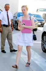 ELLE FANNING Out in Beverly Hills 10/20/2016